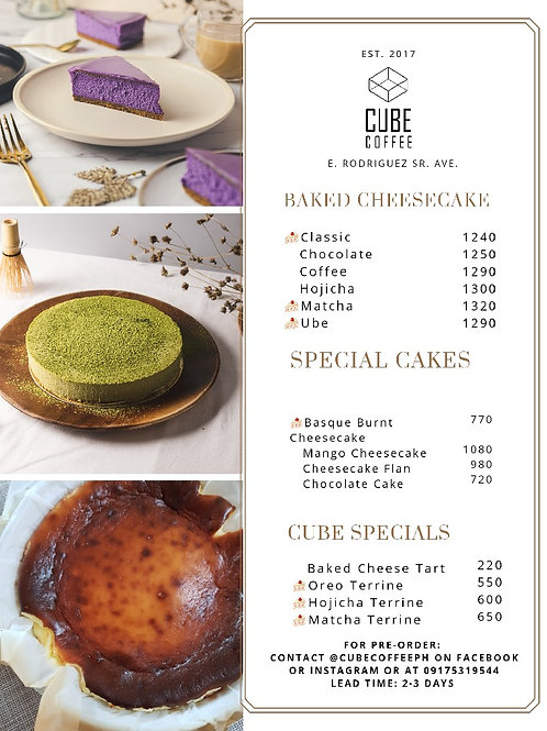 Cheesecakes, Cakes, and Tarts