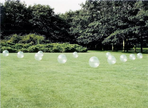 Transparante bollendriehoek