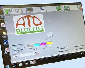 Ato digitus créé les logiciels d'impression pour machines UV à plat petits et grands formats