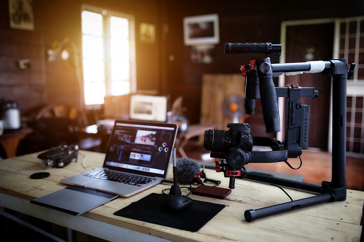 Vlogger equipment for Filming a movie or