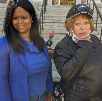 Lauren with Lauren Raysor, coalition for police reform member, at the police reform rally at city hall.