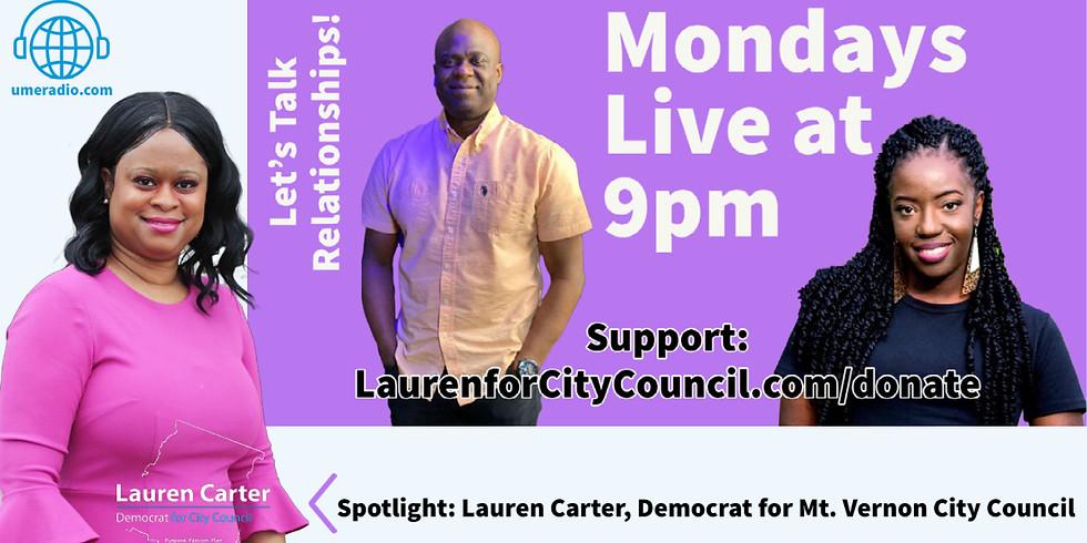 Let's Talk Relationships Take Over with Lauren Carter