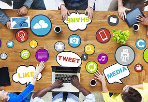 People Connecting and Sharing Social Med