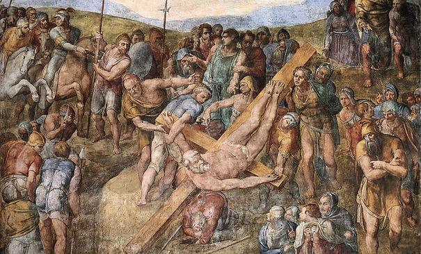 Michelangelo_paolina_martirio_di_san_pie