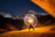 abbie jean ciullo buttermilks eastern sierra fire spinning