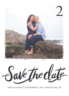 Save the Date Trendy Invitation Front_Pi