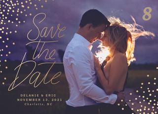 Save the Date Confetti Invitation Front_