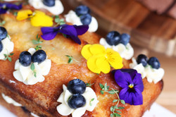 Lemon Thyme, Gin & Blueberry Loaf