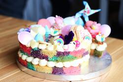 Unicorn Number Cake