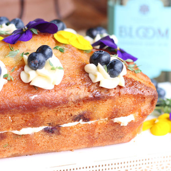 Lemon Thyme, Gin and Blueberry Cake