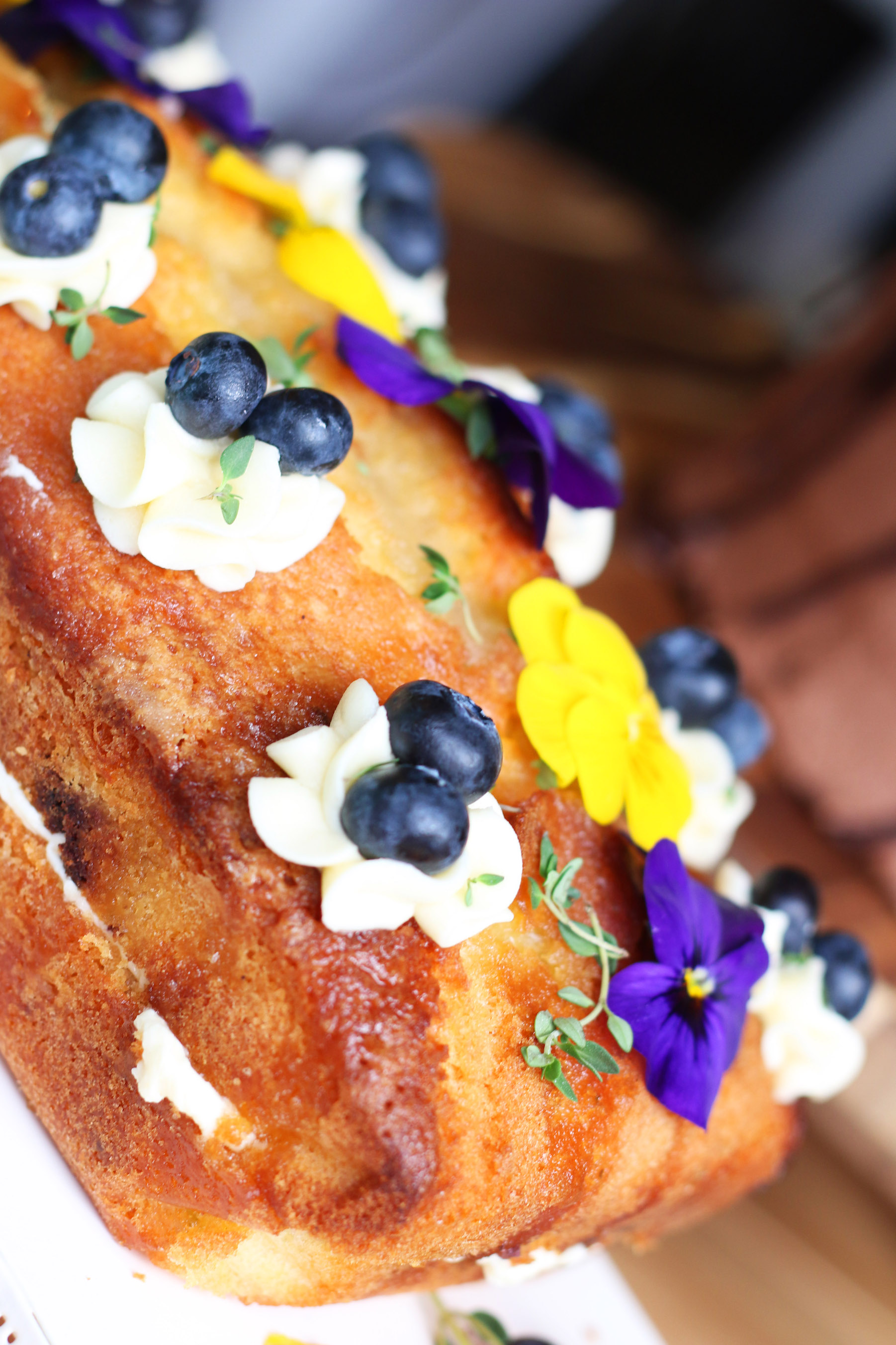 Lemon Thyme, Gin & Blueberry Loaf