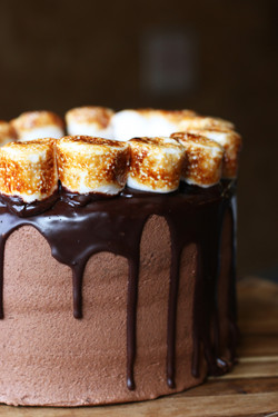 Smoores Chocolate Cake