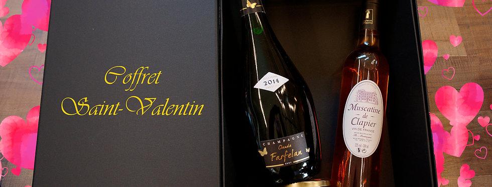 Coffret Désir : Champagne + Vin doux + Confit d'olive noire au gingembre