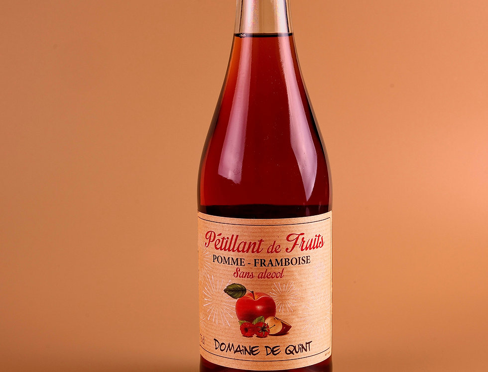 Pétillant de Fruits Pomme Framboise - Sans Alcool - Domaine de Quint