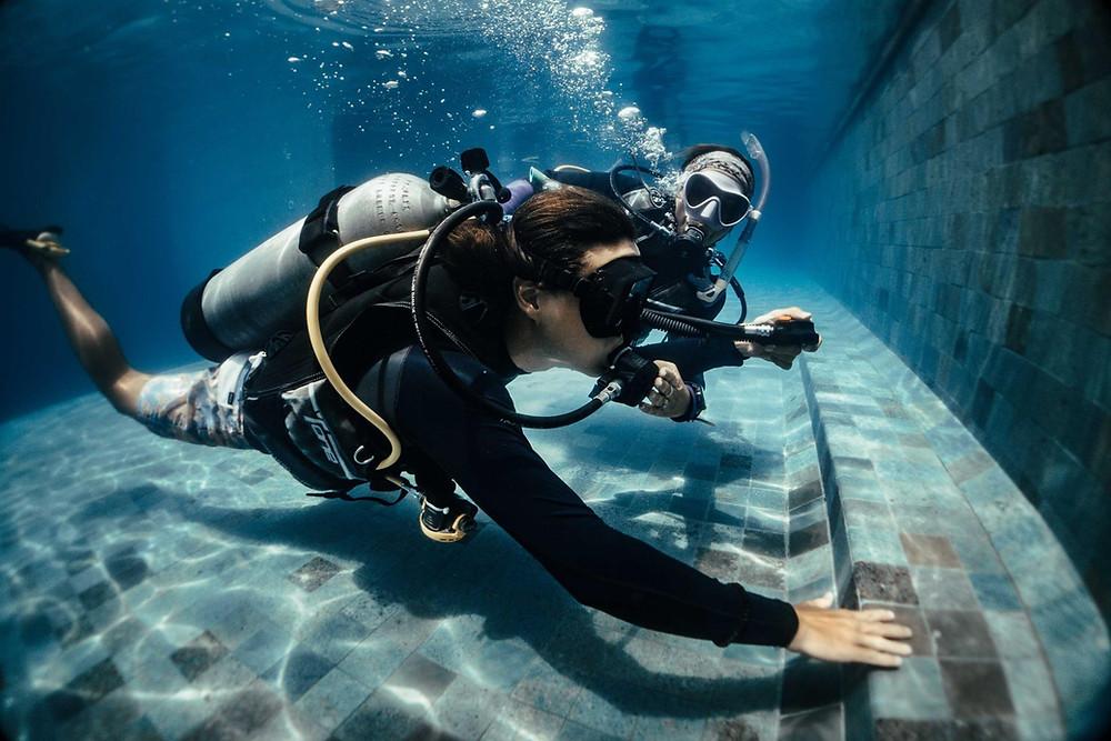 Student diver at Purple Dive Penida