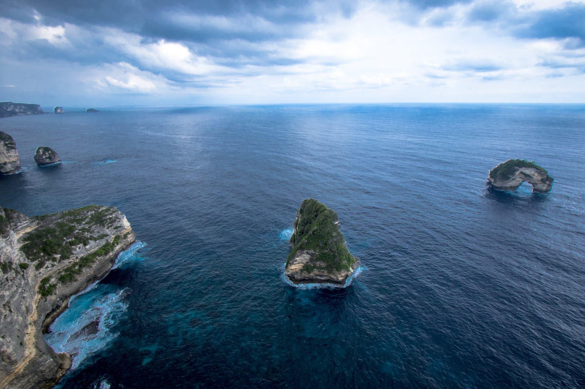 Coastline of Nusa Penida Bali