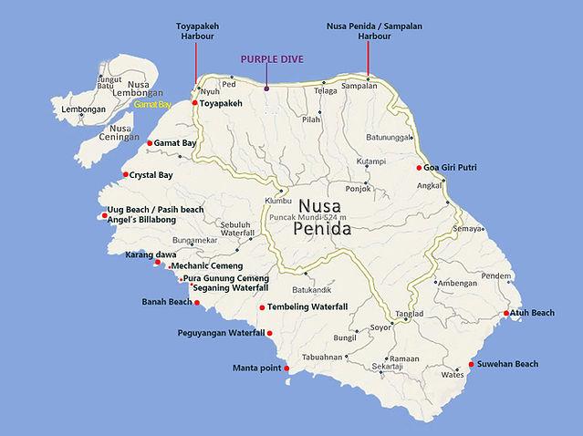 Nusa Penida map