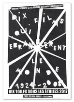Affiche du festival de cinéma en plein air  Dix Toiles sous les Étoiles 2017 organisé par ZINEMA