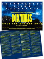 Affiche du festival de cinéma en plein air  Dix Toiles sous les Étoiles 2018 organisé par ZINEMA