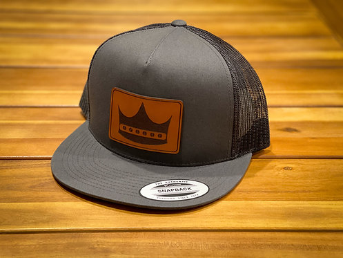 Righteous Sound Crown Logo Leather Patch Hats