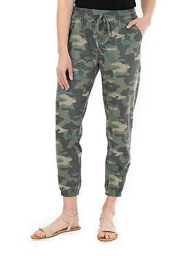 Two Pocket Tie Front Printed Jogger