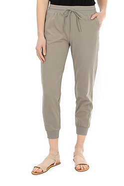 Two Pocket Tie Front Solid Jogger