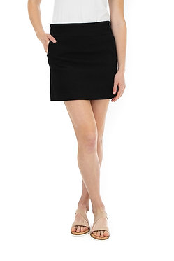 Solid Two Pocket Skort With Built In Shorts