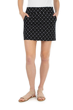 Printed Two Pocket Skort With Built In Shorts
