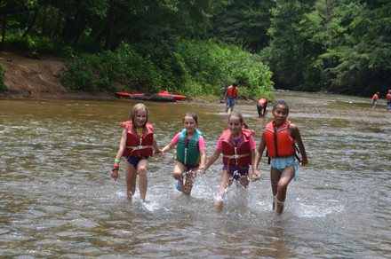 Splashing in the Chestatee River