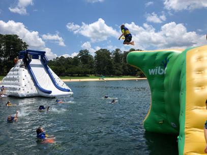 Jumping at Aqua Island