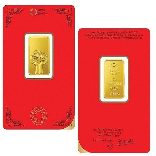 MMTC Pamp 24kt 5,10, 20 gm Gold Bar
