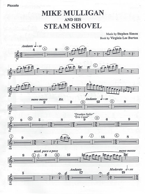 Mike Mulligan and His Steam Shovel Orchestral Score