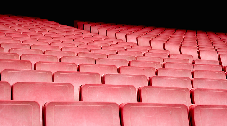 rake seating at a theater