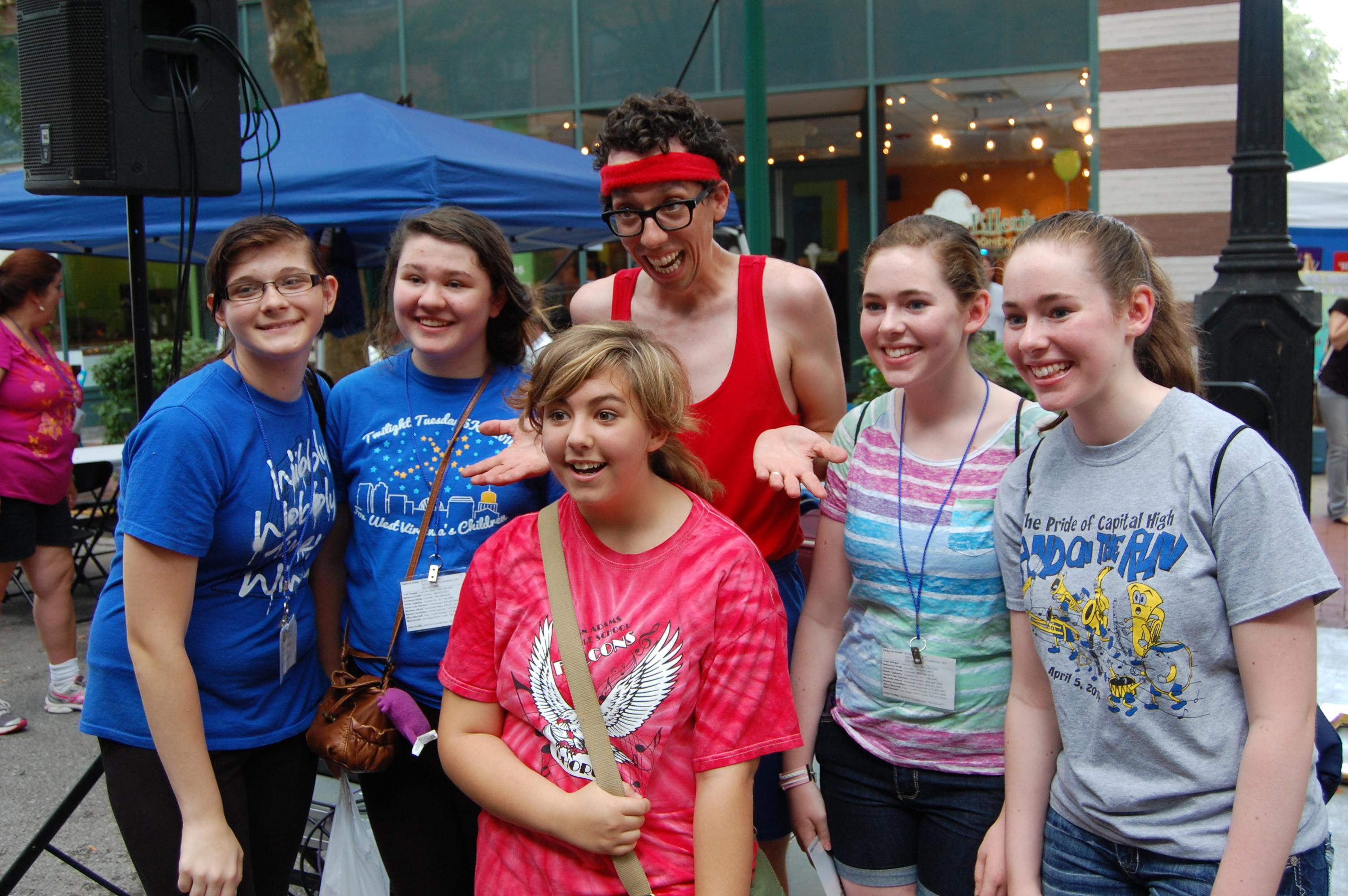 Group at FestivALL street fair