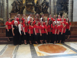 At St Peters Basilica after performing