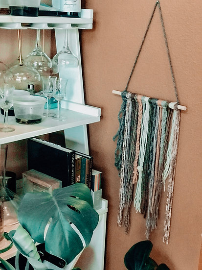 Boho Wall Hanging: Dusty Rose