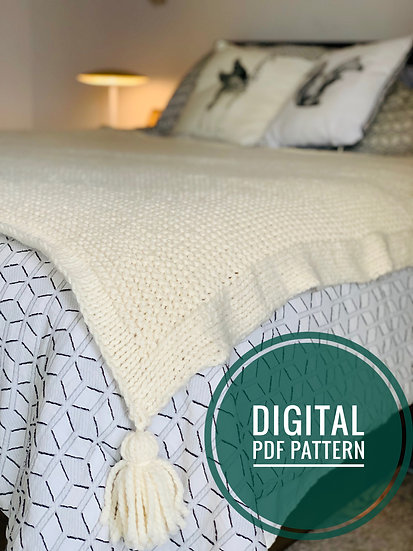 Rowan Blanket Pattern Digital Download