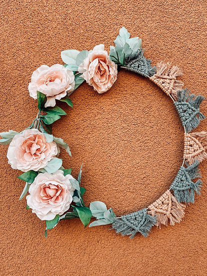 Macramé and Flower Wall Hanging