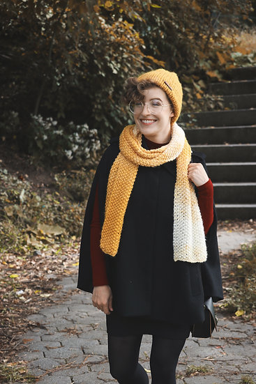 Addison Scarf- Yellow and White