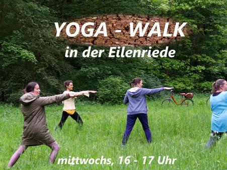 Yoga-Walk | Gemeinsam bewegen, durchatmen und Kraft schöpfen in der Natur | mittwochs, 16 - 17 Uhr