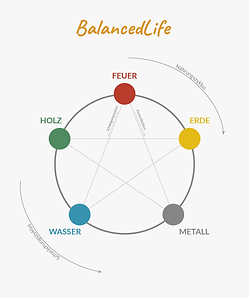 Fünf-Elemente Feuer, Erde, Metall, Wasser, Holz - Well-balanced Institut Hannover