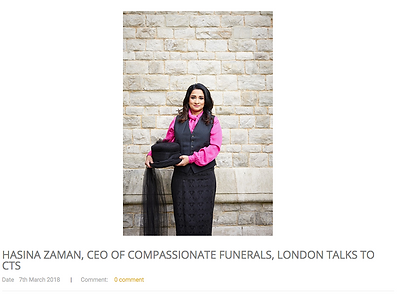 east london funerals modern funeral director compassionate eco funerals hasina zaman compassion