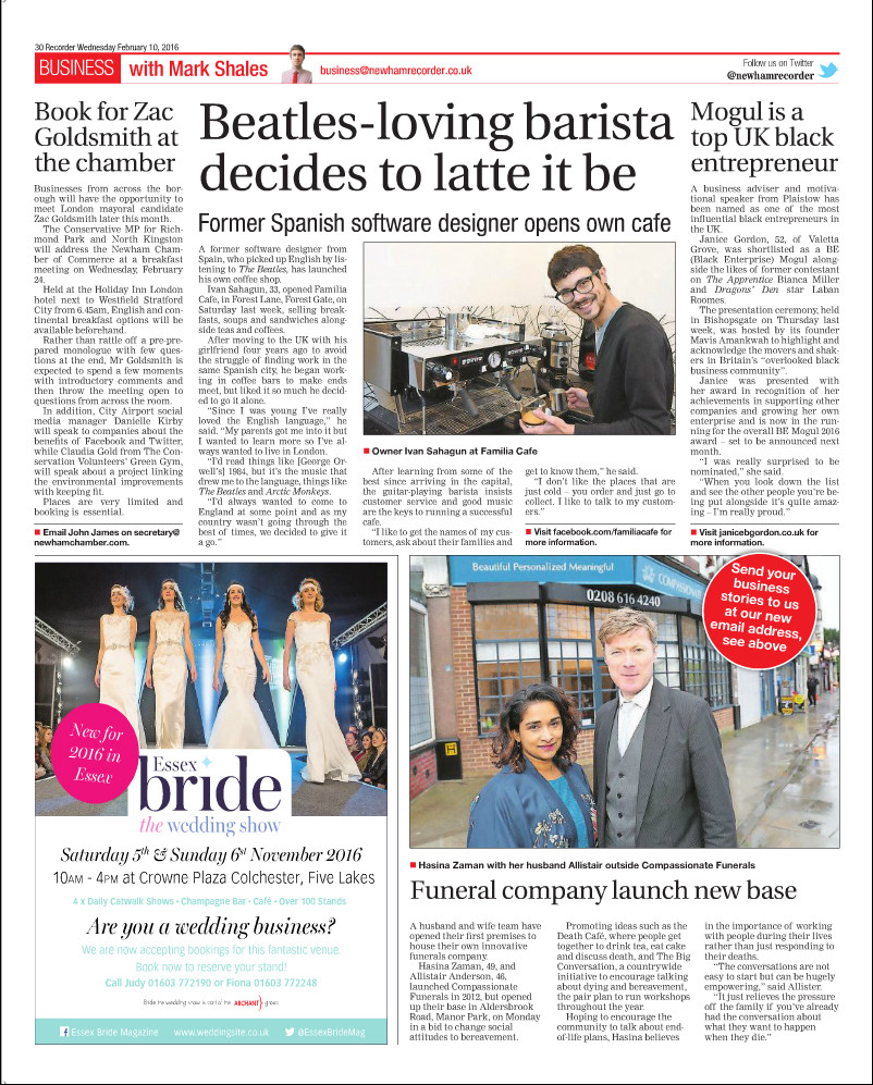 Newham Recorder - Funeral company launch new base