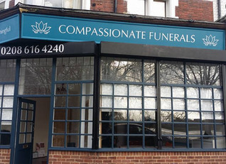 Photos of the new Compassionate Funerals premises in Aldersbrook Road