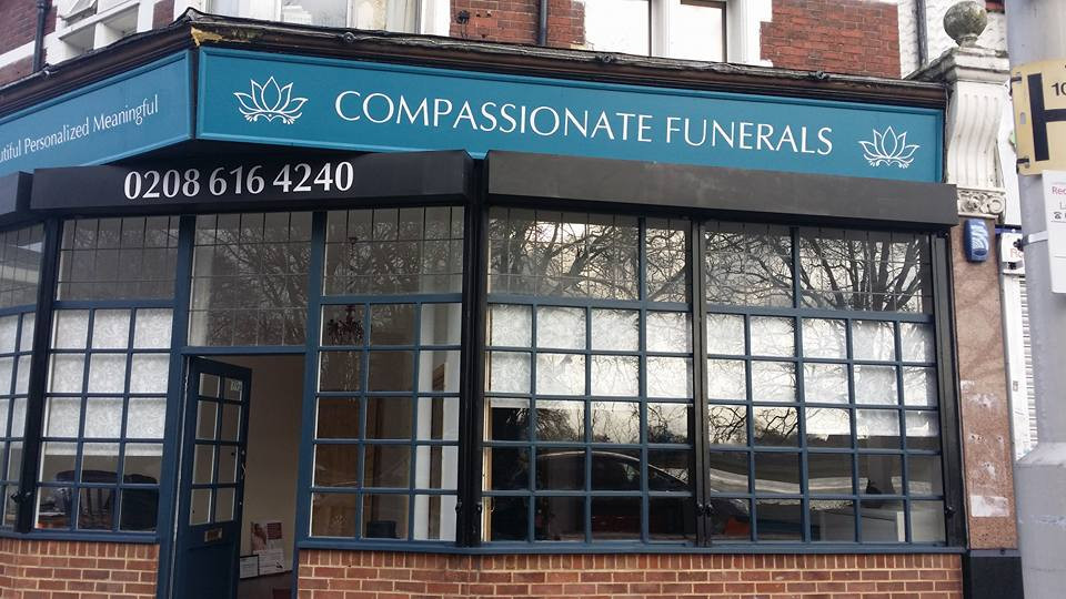Compassionate Funerals - front of shop