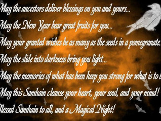 Blessed Samhain - 31st October