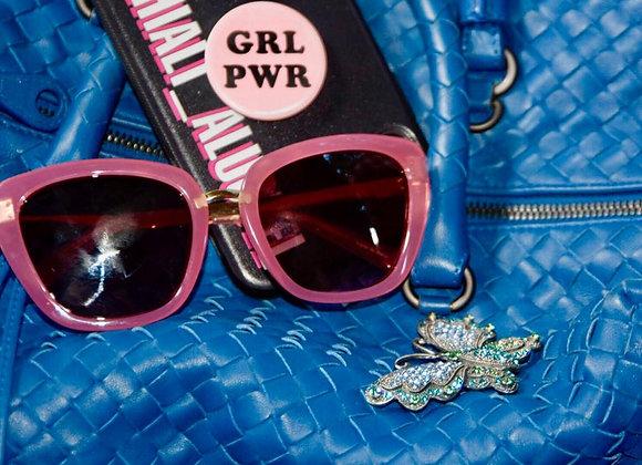 Pink Girl Power Glasses