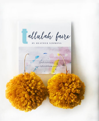 POM Earrings - Gold