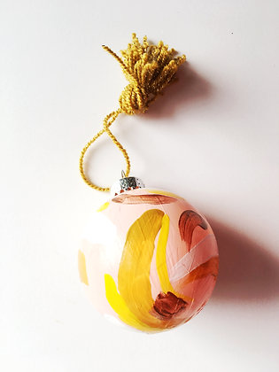 Hand Painted Ornaments: Blush