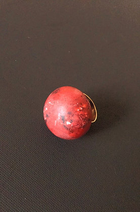 Chunky Red Moon Ring